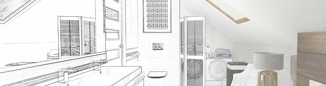 projekt łazienek w mieście Kosztrzyn